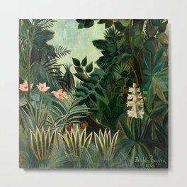 The Equatorial Jungle - Henri Rousseau Metal Print