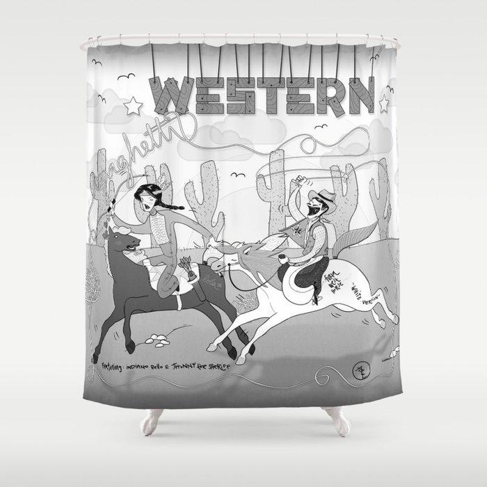 Spaghetti Western Shower Curtain