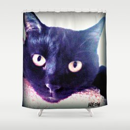 Hector Meow. Shower Curtain