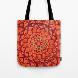 Mandala on copper plate 2 Tote Bag