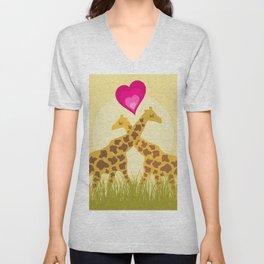 Love a giraffe Unisex V-Neck