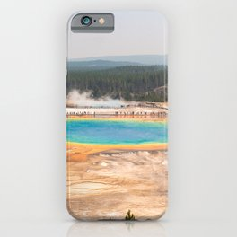 Grand Prismatic Springs Yellowstone National Park Photograph iPhone Case