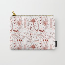 Doodle Christmas pattern Carry-All Pouch
