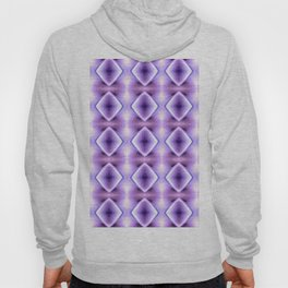 Blue Purple Geometric Diamond Pattern Design Hoody