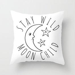 Stay Wild Moon Child Print Throw Pillow