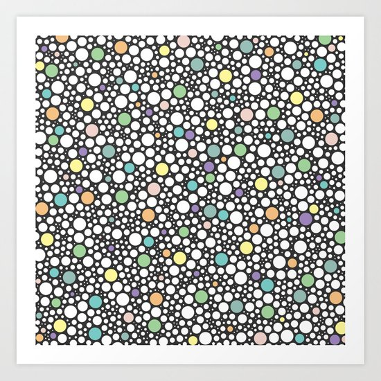 pastel puzzle bubble 3 Art Print