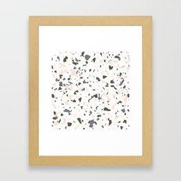 Multi-Colored Terrazzo Pattern - Pink, Brown, Cream, Gray Framed Art Print