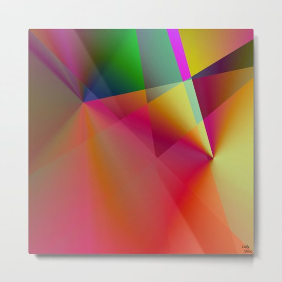 """ The color creates the emotion and lets spring the spark of the creation. "" Metal Print"