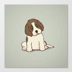 Saint Bernard Dog Illustration Canvas Print