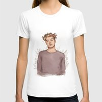 coconutwishes T-shirts featuring Flower crown Liam by Coconut Wishes
