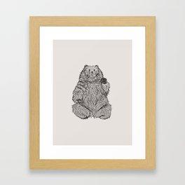 Hello Bear Framed Art Print