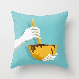 Lick The Bowl Throw Pillow