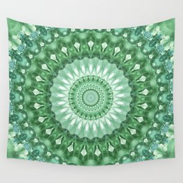 Emerald Green Mandala Wall Tapestry