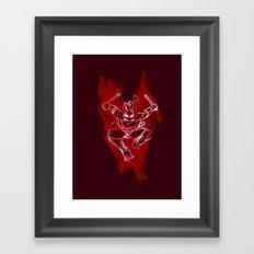 TMNT Rock: Raph Framed Art Print