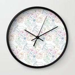 Colorful Clothes Pattern Wall Clock