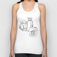 vespa Tank Tops featuring Vespa by tuditees