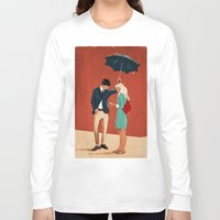 broadway Long Sleeve T-shirts featuring Broadway Bus Stop by Stephan Parylak