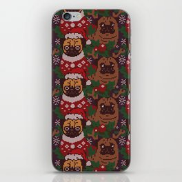 Christmas Party With The Pug iPhone Skin