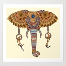 Elephant Design Art Print