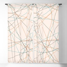Colored Line Chaos #21 Blackout Curtain