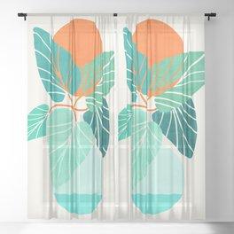 Tropical Life Sheer Curtain