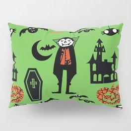 Cute Dracula and friends green #halloween Pillow Sham