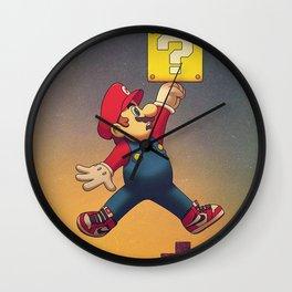Air Mario Jumpman Wall Clock