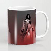 punisher Mugs featuring Lady Punisher by Matthew Bartlett