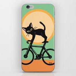 Cat loves a bike iPhone Skin