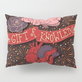 If we wonder often the gift of knowledge will come inspirational quote, handlettering design Pillow Sham