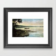 Rowing on a Silent Morning Framed Art Print