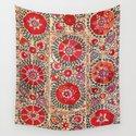 Samarkand Suzani Southwest Uzbekistan Embroidery by vickybragomitchell