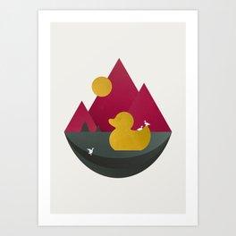 Duck Dance Art Print