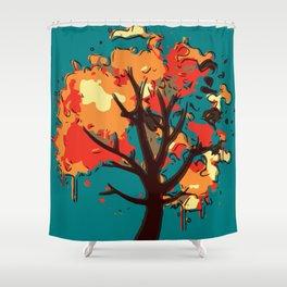 Autumn Tree Abstract Shower Curtain