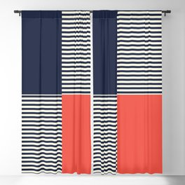 Dash in Red and Blue Blackout Curtain
