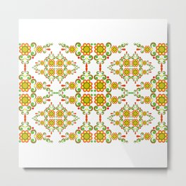 Abstract floral background Metal Print