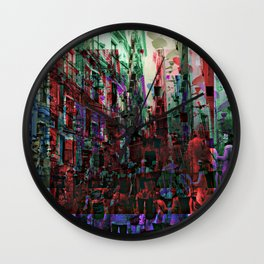 Hustle hubbub bustle substance. Wall Clock