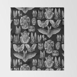 1904 Haeckel Chiroptera Throw Blanket