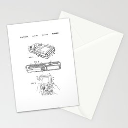 Gameboy Patent Drawing Stationery Cards