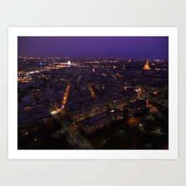 Paris At Night 2 Art Print
