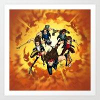 Rock Heroes Art Print