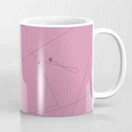 Squiggle line 1 - pink background and black squiggle Coffee Mug