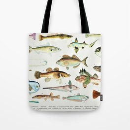 Illustrated Colorful Southern Pacific Ocean Exotic Game Fish Identification Chart No. 4 Tote Bag