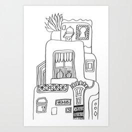 House called Venus Art Print