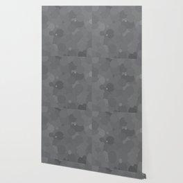 Glacier Gray Bubble Dot Color Accent Wallpaper