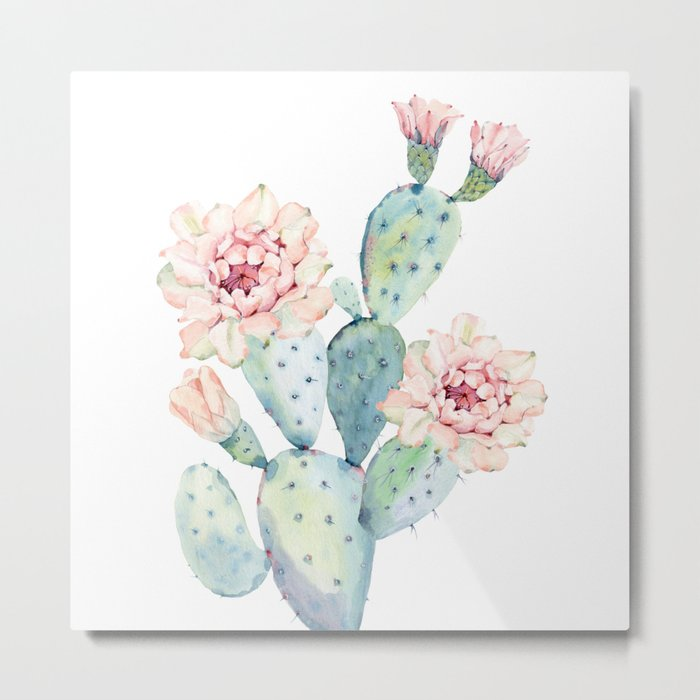 The Prettiest Cactus Metal Print