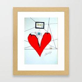 broken heart part 1 Framed Art Print