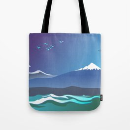 Mont Taranaki From The Sea Tote Bag