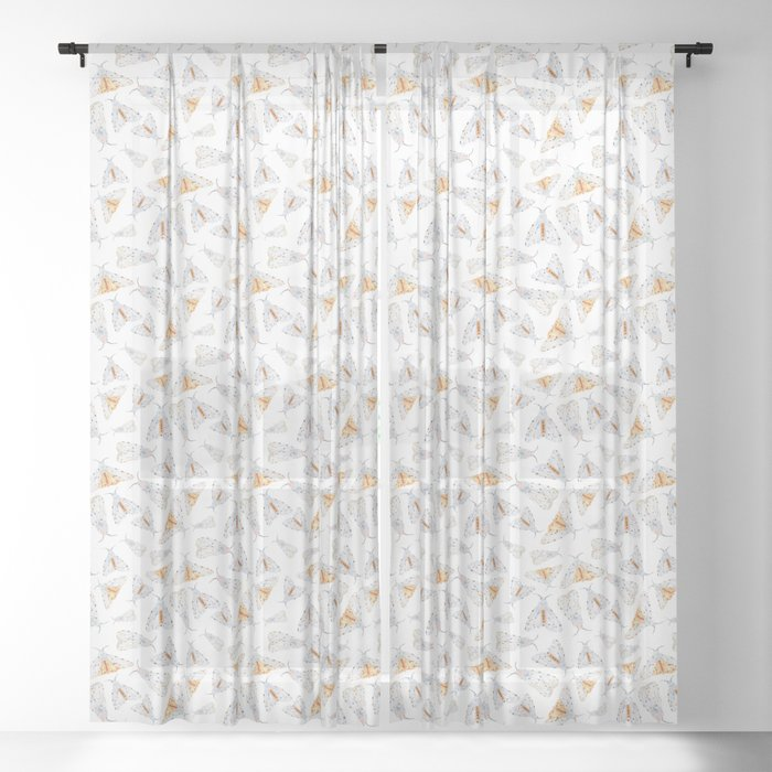 Salt Moth Geometric Pattern Sheer Curtain