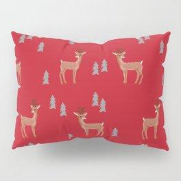 Rudolph christmas santa's reindeer forest winter deer Pillow Sham